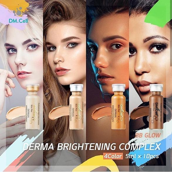 BB Glow behandling med  Dermowhite serum från ledande koreansk tillverkare ger en omedelbar och gradvis effekt av strålande och jämnare hudton på ansikte och runt ögonen.