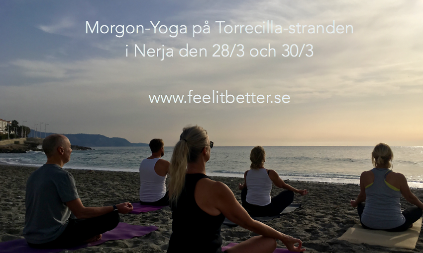 Morgon-yoga i Nerja