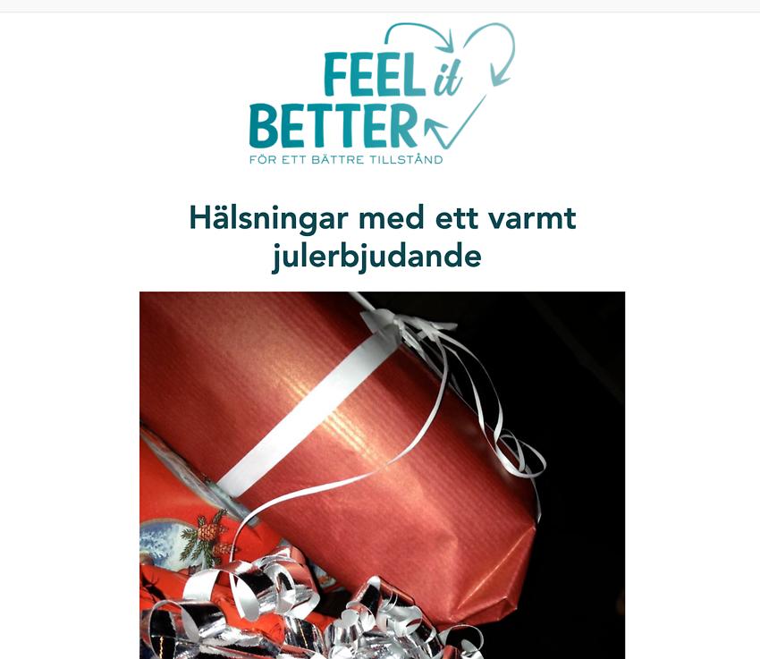 Julerbjudande från FEEL IT BETTER