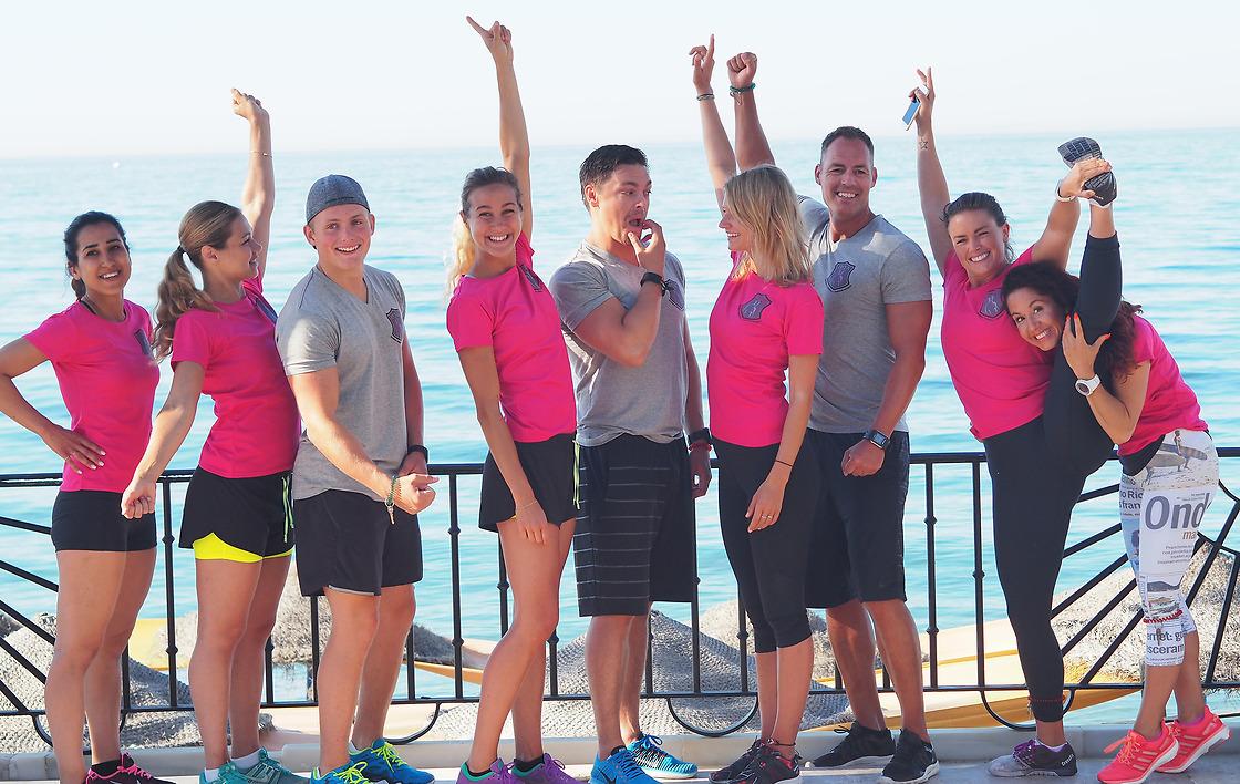 Glada elever på IPTA:s PT-utbildning i Marbella, Spanien.