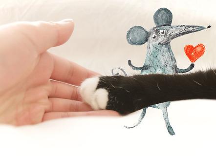 Köp ett musarmsstöd med tasstryck och vi skänker 30 kr till ett katthem