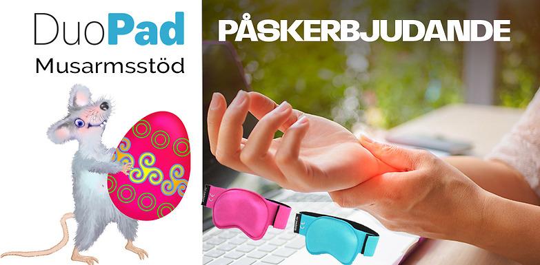 Våra musarmsstöd i rosa och turkos  till specialpris under påsken: 149 kr