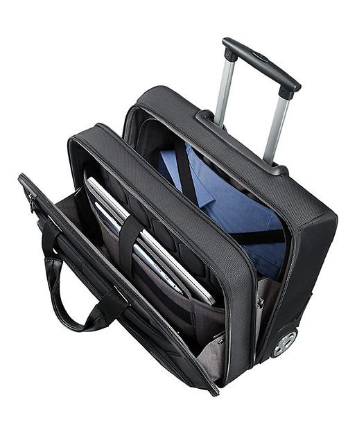 Samsonite XBR säljväska på hjul invändigt, har plats för ombyte, laptop och iPad