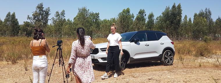 Chairwoman Jennifer Ekström with Universal Kraft and Volvo XC40 Hybrid