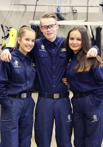Elever på Industritekniska programmet på Curt Nicolin Gymnasiet i Finspång
