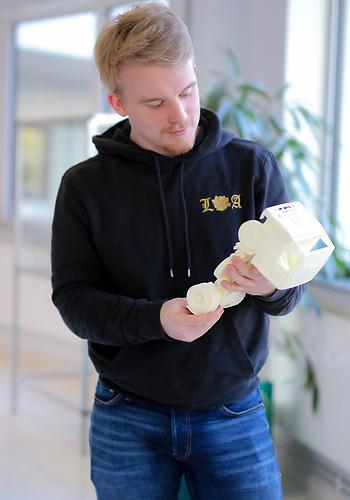 Elev på Teknikprogrammet på Curt Nicolin Gymnasiet i Finspång