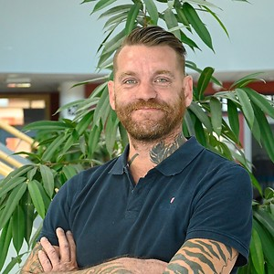 Jonny Andersson på CNG i Finspång