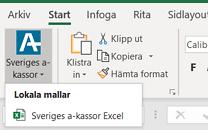 Mallknapp i Excel