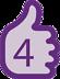 Steg 4 i sjävundersökning av brösten