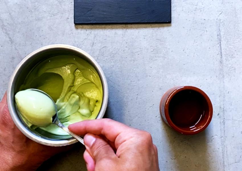 Granskottsglass - glass på granskott - Spruce shoots ice cream