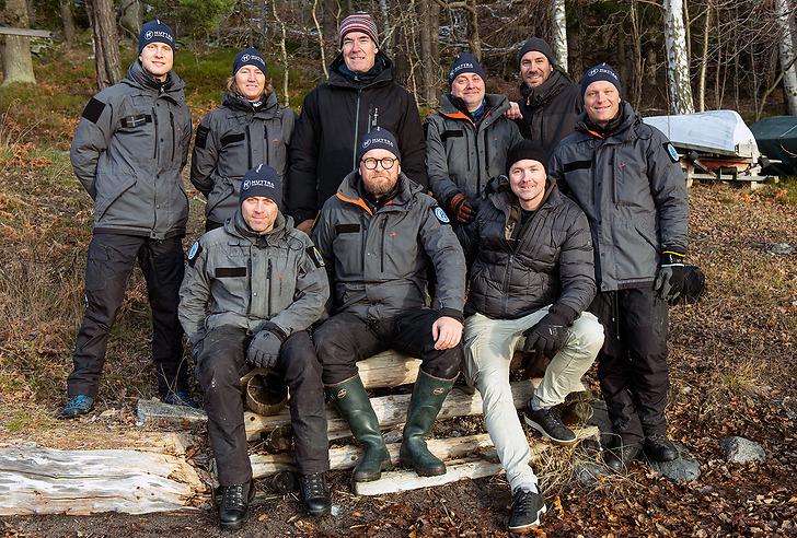 Gruppbild av Beredskap Sveriges team