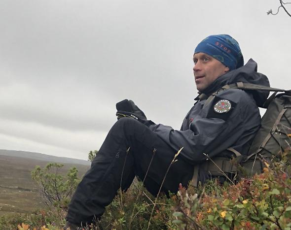 Jonas Marjamaa. Instruktör i Svenska Överlevnadssällskapet.