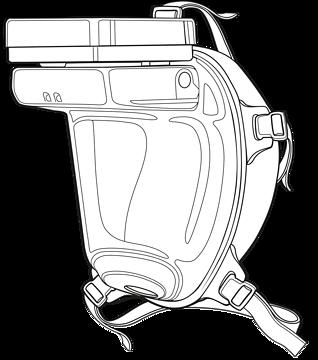 Andningsskydd med filter och fläkt